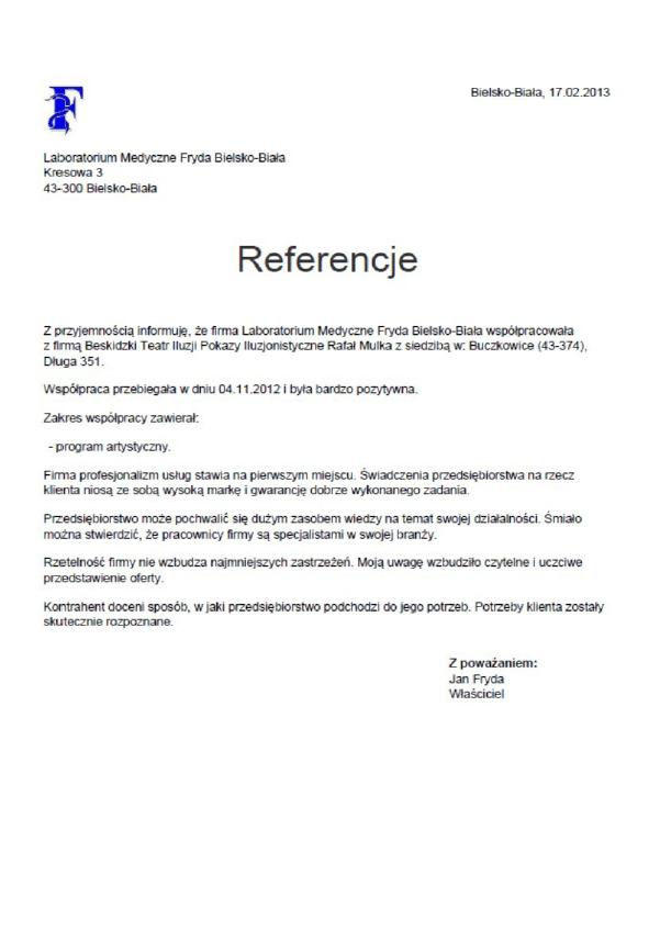Referencje-Laboratorium-FRYDA
