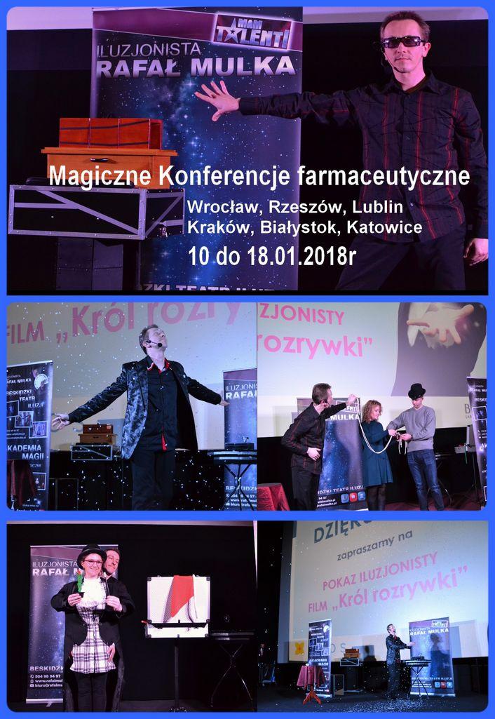 iluzjonista na konferencjach farmaceutycznych