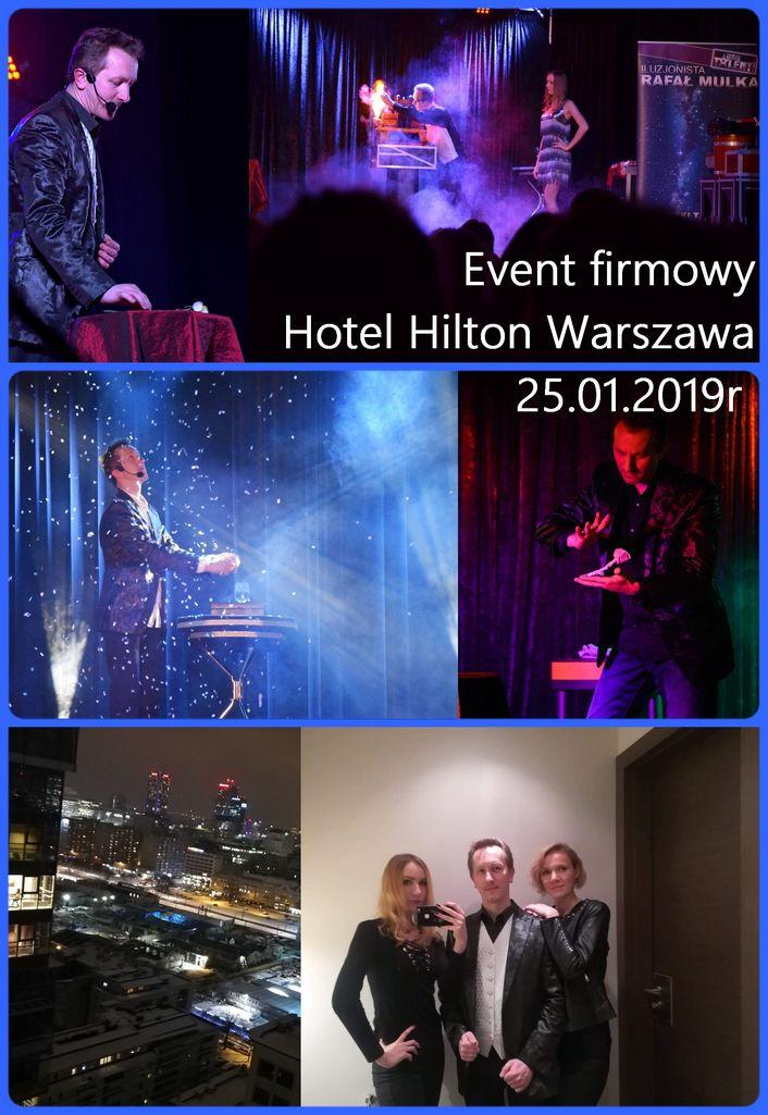 iluzjonista hotel Hilton Warszawa