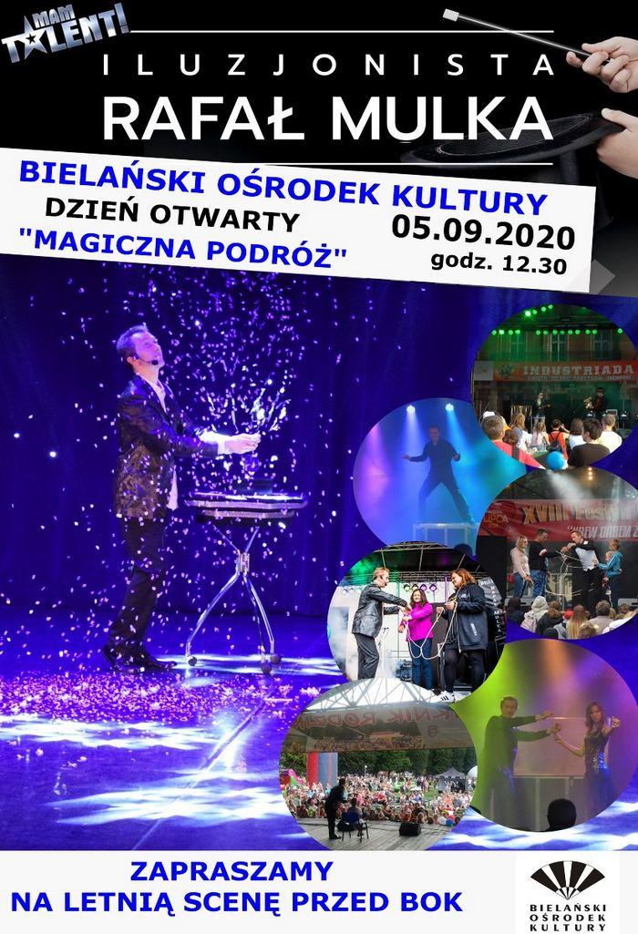 Pokaz iluzjonisty w Warszawie – 05.09.2020r Rafał Mulka Bielańskie Centrum Kultury